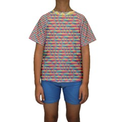 Background Abstract Colorful Kids  Short Sleeve Swimwear