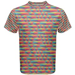 Background Abstract Colorful Men s Cotton Tee