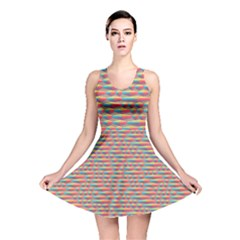 Background Abstract Colorful Reversible Skater Dress