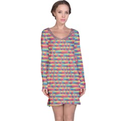 Background Abstract Colorful Long Sleeve Nightdress