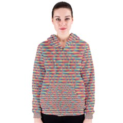 Background Abstract Colorful Women s Zipper Hoodie