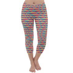 Background Abstract Colorful Capri Winter Leggings