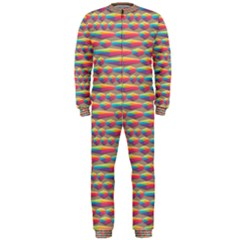 Background Abstract Colorful Onepiece Jumpsuit (men)