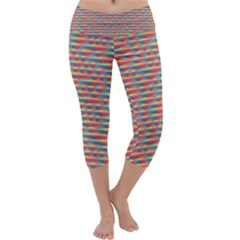Background Abstract Colorful Capri Yoga Leggings