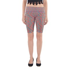 Background Abstract Colorful Yoga Cropped Leggings