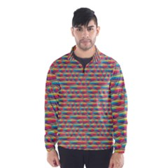 Background Abstract Colorful Wind Breaker (Men)