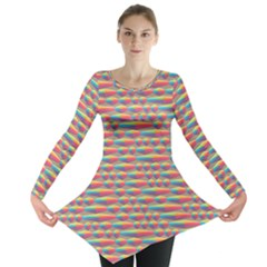 Background Abstract Colorful Long Sleeve Tunic