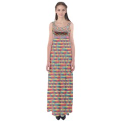 Background Abstract Colorful Empire Waist Maxi Dress