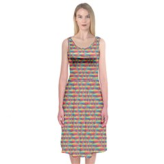 Background Abstract Colorful Midi Sleeveless Dress