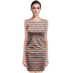 Background Abstract Colorful Classic Sleeveless Midi Dress