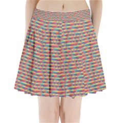 Background Abstract Colorful Pleated Mini Skirt