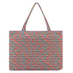 Background Abstract Colorful Medium Zipper Tote Bag