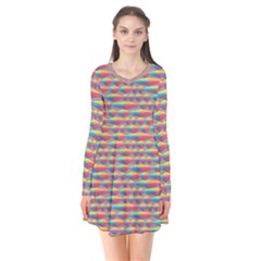 Background Abstract Colorful Flare Dress