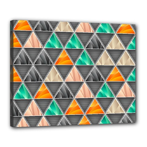 Abstract Geometric Triangle Shape Canvas 20  X 16