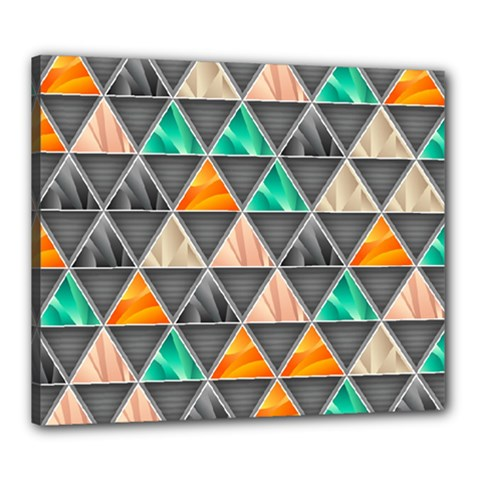 Abstract Geometric Triangle Shape Canvas 24  X 20