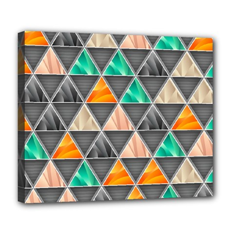 Abstract Geometric Triangle Shape Deluxe Canvas 24  X 20