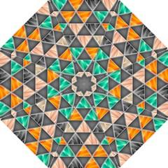 Abstract Geometric Triangle Shape Hook Handle Umbrellas (medium)