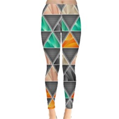 Abstract Geometric Triangle Shape Leggings