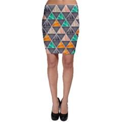 Abstract Geometric Triangle Shape Bodycon Skirt