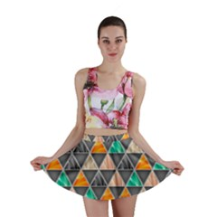 Abstract Geometric Triangle Shape Mini Skirt