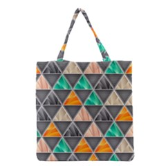 Abstract Geometric Triangle Shape Grocery Tote Bag