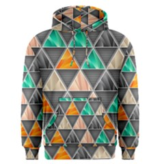 Abstract Geometric Triangle Shape Men s Pullover Hoodie