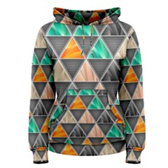 Abstract Geometric Triangle Shape Women s Pullover Hoodie
