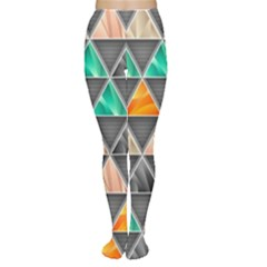 Abstract Geometric Triangle Shape Women s Tights