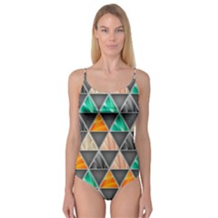 Abstract Geometric Triangle Shape Camisole Leotard