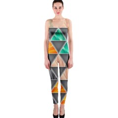 Abstract Geometric Triangle Shape Onepiece Catsuit