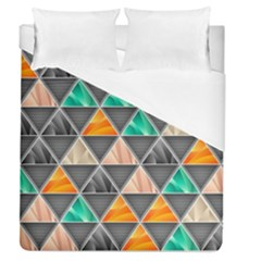 Abstract Geometric Triangle Shape Duvet Cover (queen Size)