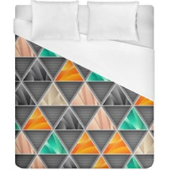Abstract Geometric Triangle Shape Duvet Cover (california King Size)