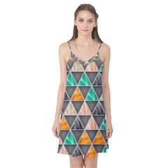 Abstract Geometric Triangle Shape Camis Nightgown