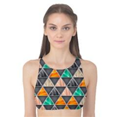 Abstract Geometric Triangle Shape Tank Bikini Top