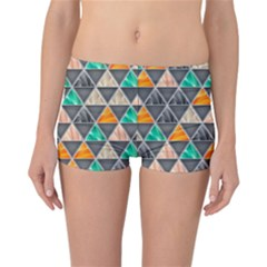 Abstract Geometric Triangle Shape Reversible Bikini Bottoms