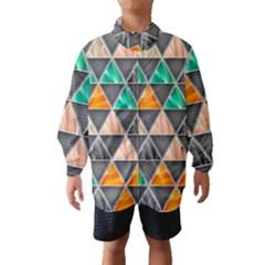 Abstract Geometric Triangle Shape Wind Breaker (kids)