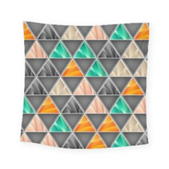 Abstract Geometric Triangle Shape Square Tapestry (small)