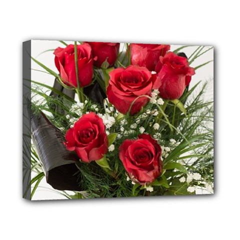 Red Roses Roses Red Flower Love Canvas 10  X 8
