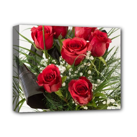 Red Roses Roses Red Flower Love Deluxe Canvas 14  x 11