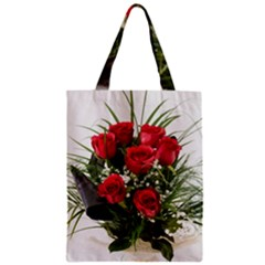 Red Roses Roses Red Flower Love Zipper Classic Tote Bag