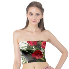 Red Roses Roses Red Flower Love Tube Top
