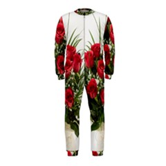 Red Roses Roses Red Flower Love Onepiece Jumpsuit (kids)