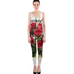 Red Roses Roses Red Flower Love OnePiece Catsuit