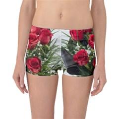 Red Roses Roses Red Flower Love Boyleg Bikini Bottoms