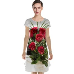 Red Roses Roses Red Flower Love Cap Sleeve Nightdress