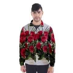 Red Roses Roses Red Flower Love Wind Breaker (Men)