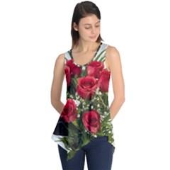 Red Roses Roses Red Flower Love Sleeveless Tunic