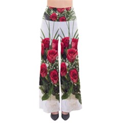 Red Roses Roses Red Flower Love Pants