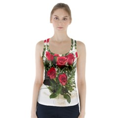 Red Roses Roses Red Flower Love Racer Back Sports Top