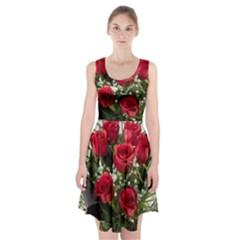 Red Roses Roses Red Flower Love Racerback Midi Dress
